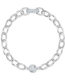 Crystal Large Link Magnetic Bracelet