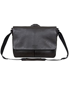 "Vegan Leather 15.6"" Laptop Messenger Bag"