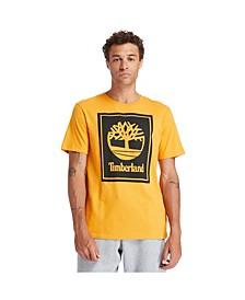 Mens Short Sleeve Stacked Logo Tee