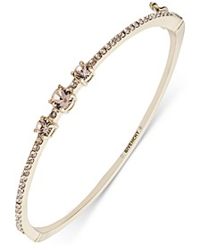 Stone & Crystal Bangle Bracelet