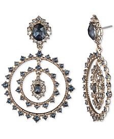 Gold-Tone Stone & Crystal Orbital Drop Earrings