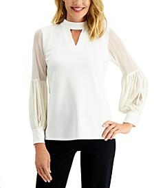 Sheer-Sleeve Top, Created for Macy's