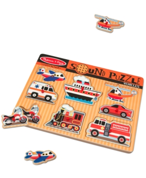 Melissa and Doug Kids Toy Vehicles Sound Puzzle