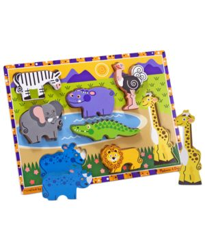 Melissa and Doug Kids Toy, Safari Chunky Puzzle