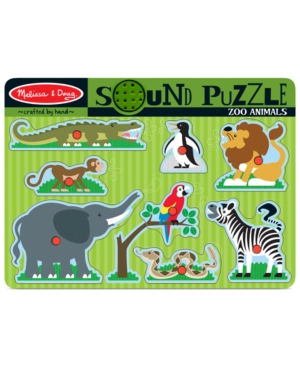 Melissa and Doug Kids Toy Zoo Animals Sound Puzzle