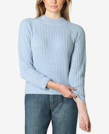 Juniors' Chenille Mock-Neck Sweater