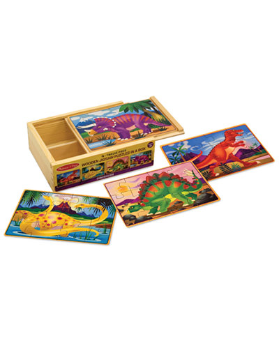Melissa And Doug Kids Toy Dinosaurs Puzzles In A Box