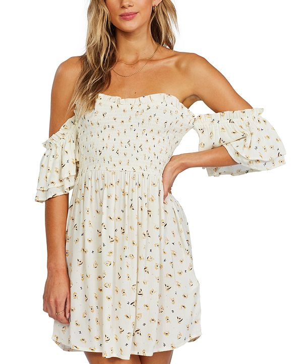 Billabong Juniors' Dancing Sun Off-The-Shoulder Dress