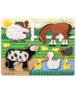 Melissa and Doug Kids Toy, Farm Touch and Feel Puzzle 1095818