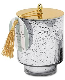 Silver Mercury Glass Candle with Tassle