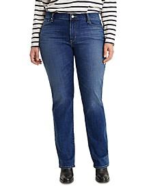 Trendy Plus Size 414 Classic Straight-Leg Jeans