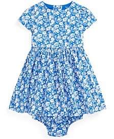 Baby Girls Floral Dress and Bloomer