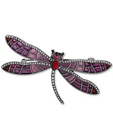 Pavé & Stone Dragonfly Pin