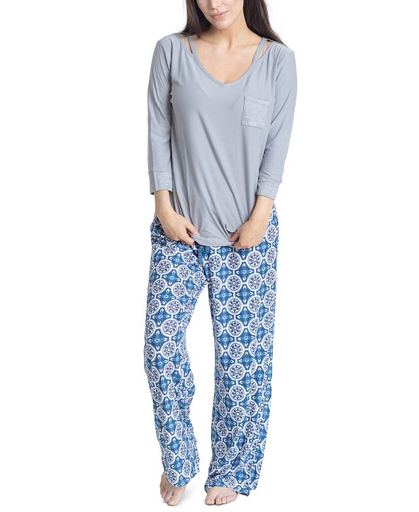 Muk Luks Stretch Fleece Pajama Set