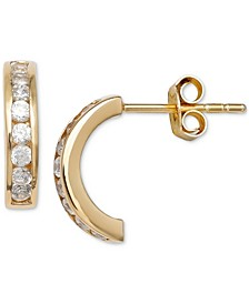 Crystal Half Hoop Earrings in 18k Gold-Plated Sterling Silver, Created for Macy's