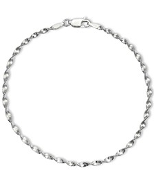 Twisted Link Chain Bracelet in Sterling Silver, Created for Macy's