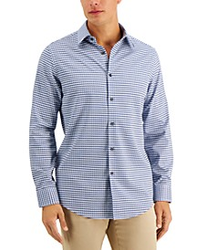 Men's Comolo Houndstooth Dobby Shirt, Created for Macy's