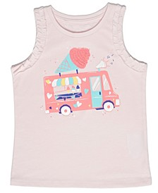 Little Girls Ice Cream Truck Tank Top