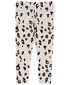 Little Girls All Over Sassy Leopard Print Mix and Match Knit Legging