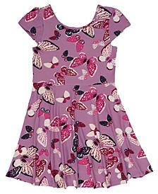 Big Girls All Over Butterfly Print Skater Dress