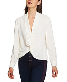Twist-Front Blouse