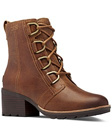 Women's Cate Lace Lug Sole Booties
