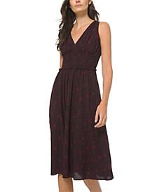 Ruched-Waist Sleeveless Dress