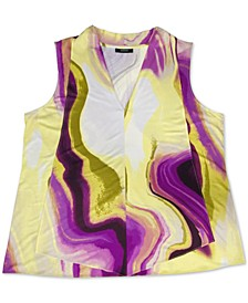 Plus Size Printed Sleeveless Top, Created for Macy's