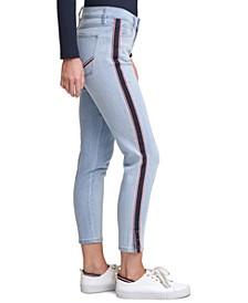 Tribeca Side-Stripe Skinny Jeans
