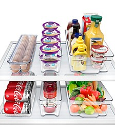 6 Piece Refrigerator and Freezer Organizer Bins