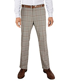 Men's Modern-Fit TH Flex Stretch Check performance Pants