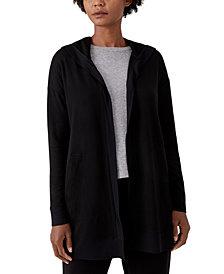 Eileen Fisher Hooded Open-Front Jacket