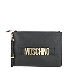 Women's Leather Logo Pouch with Wristlet (48% Off) -- Comparable Value $575