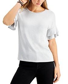 Melange Flutter-Sleeve Top, Created for Macy's