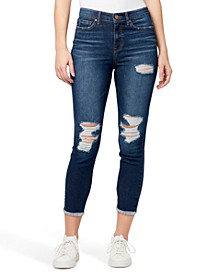 Ripped High-Rise Ankle Skinny Jeans