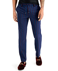 INC Men's Striped Drawstring Pants, Created for Macy's