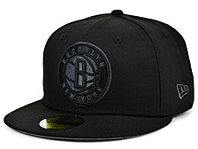 Brooklyn Nets Blackout Pop 59FIFTY Cap