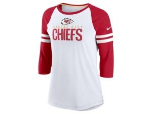 Nike Kansas City Chiefs Women's Three Quarter Sleeve Raglan Shirt