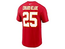 Kansas City Chiefs Men's Pride Name and Number Wordmark 3.0 Player T-shirt ClydeEdwards-Helaire