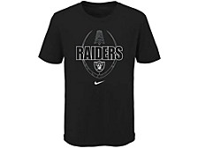 Oakland Raiders Youth Football Icon T-Shirt
