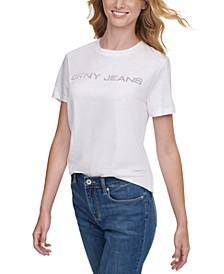 Cotton Embellished Logo T-Shirt