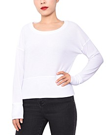 Juniors' Thermal-Knit Dolman Top