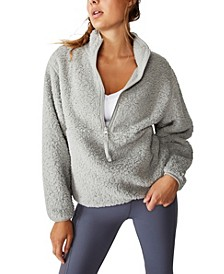 Women's Sherpa Zip Fleece Sweatshirt