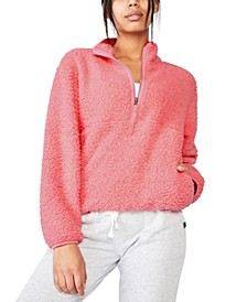 Women's Sherpa Zip Fleece Sweater