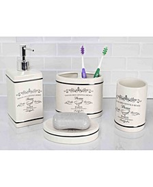Paris Bath Accessory 4 Piece Set