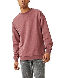 Men's Pigment Dyed Oversized Crew Sweater