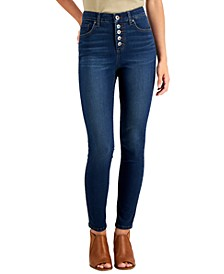 Plus Size Tummy Control Button-Fly Jeans, Created for Macy's