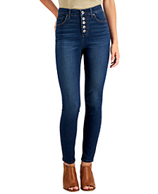 Style & Co Button-Fly High Rise Skinny Ankle Jeans, Created for Macy's
