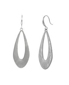 Silver-Tone Open Teardrop Earrings