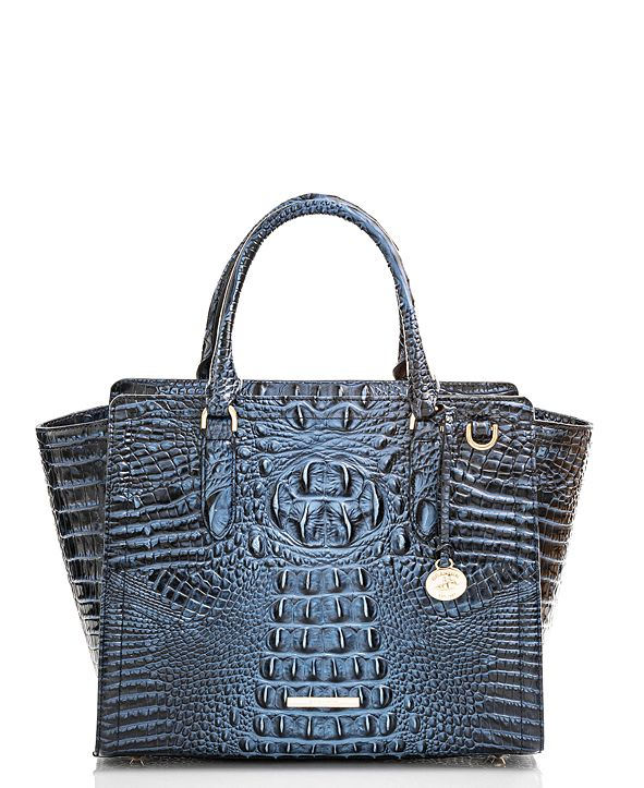 Brahmin Aubree Melbourne Embossed Leather Satchel